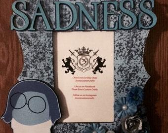 Custom Inside Out Sadness Frame