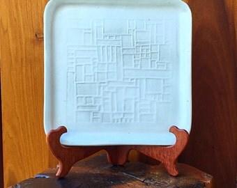 Mod Square Stoneware Platter