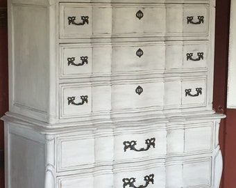 SOLD SOLD! Gorgeous French Provincial Country Chic Tall Dresser