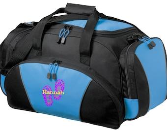 Sandal Gym Bag - Personalized - Monogrammed - Embroidered - Sports Bag - Sports Gift - Flip Flop Duffle Bag - BG91