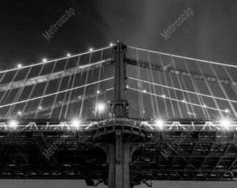 Black and White, New York City Photography, Manhattan Bridge Overpass, Fine Art Photography, NYC Pictures, Manhattan