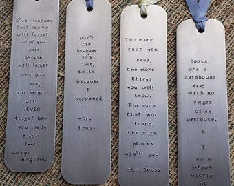 Hand stamped bookmark