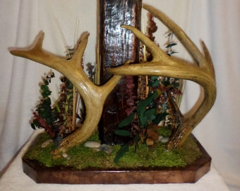 Real Whitetail Antler Lamp! Rustic Antler Lamp For Your Home, Cabin, or Lodge!