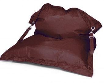 Buggle Up bean bag chair beanbag cover brown waterproof outdoor Fun indoor plush seat