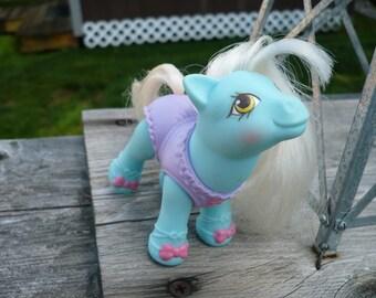 My Little Pony 1980s G1 Blue Ballerina Baby Pony - Baby Tippytoes