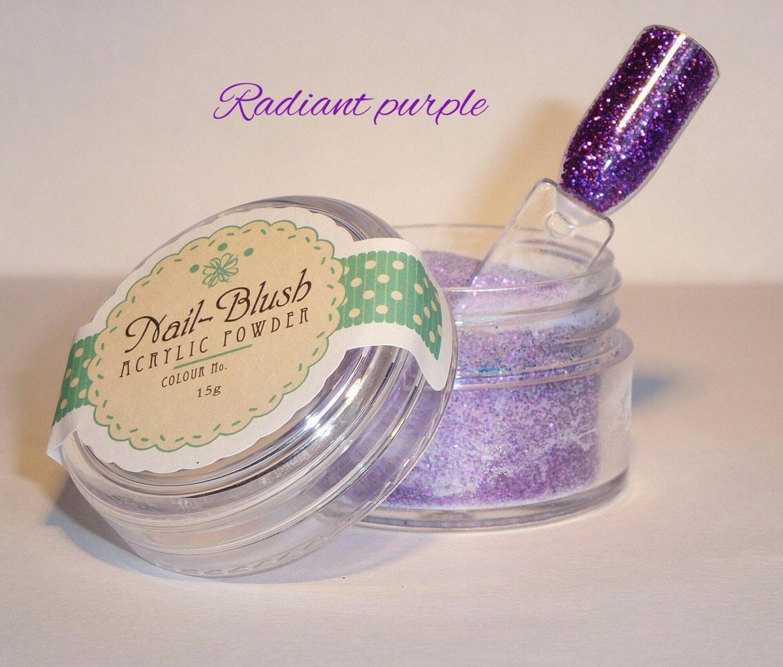 Acrylic nail powder radiant purple 15g by nail blush for Radiant plexiglass
