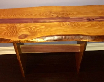 Custom handmade live edge wooden breakfast bar kits for Wood coffee table kits