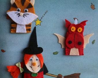 Room on the Broom Finger Puppet Set