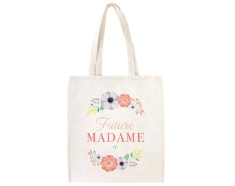 Tote bag 100% cotton, Future madame for brides