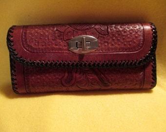 Vintage custom made clutch wallet.