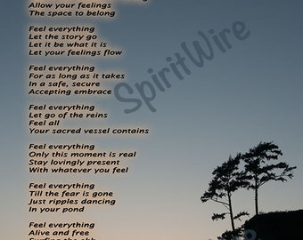Feel Poem by Dan Coppersmith, Guided Meditation Poem, Uplifting Poem & Photography, Inspirational Poem, Spiritual Poem