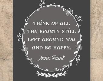 Anne Frank quote // Wall art // Modern design // Home decor