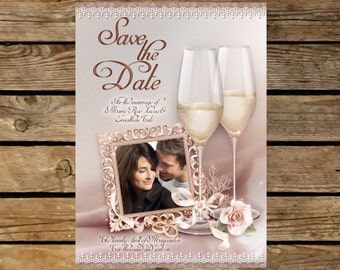 Save The Date, Potograph Save the Date, Wedding, Save The Date postcard