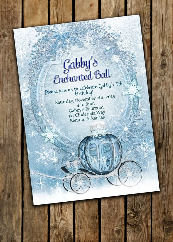 Cinderella invitation princess party by gabriellesdreams for Cinderella invitation to the ball template