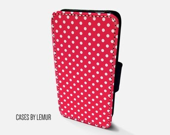POLKA DOT Iphone 6 Wallet Case Leather Iphone 6 Case Leather Iphone 6 Flip Case Iphone 6 Leather Wallet Case Iphone 6 Leather Sleeve Cover