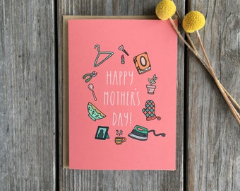 Mother Day Gift, Mother's Day Card, Cute Mother's Day Card