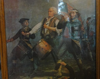 Vintage 1776 Americana A.M. Willard Print /Reproduction
