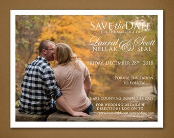 Photo Save the Date • Photograph • Landscape • Simple Save the Date • 5x7 • Save the Date • Matte • Magnet • Romantic Save the Date
