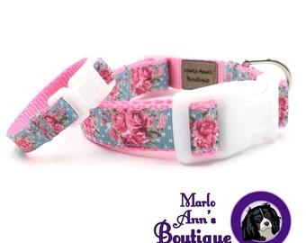 Dog Collar / Friendship / Bracelet / Rose Dog Collar / BFF Dog Collar / BFF Dog Bracelet / Collar and Cuff Set / Best Friends / Dog