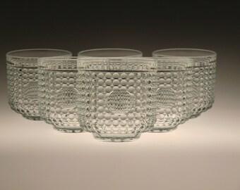 Czech Bohemian Glasses Goblets Set of 6 pcs by Rudolf Jurnikl - RARE