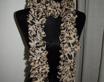 Sassy Leopard Print Scarf, Fabric Scarf, Whimsical Scarf