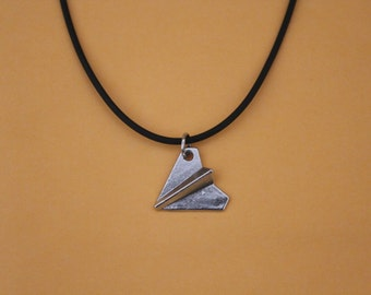 Silver Paper Airplane choker necklace , Harry Styles airplane necklace , One Direction, 1D Necklace