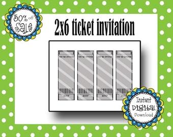 movie ticket invitation template