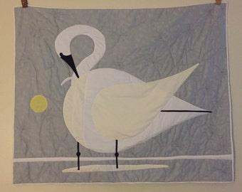 Tundra swan quilt