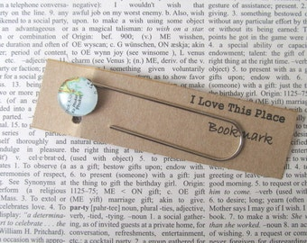 Phuket, Thailand map bookmark: page marker made with an original map. Gift idea for best friend, boyfriend, new home, book lover, souvenir.