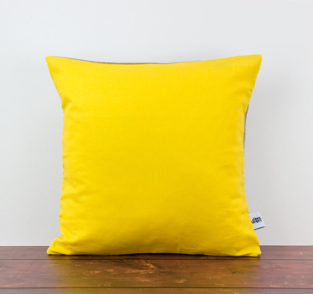 Yellow cushion Yellow pillow Yellow throw pillow Yellow