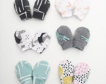 SALE - Baby Mittens, Mittens, Newborn Mittens, Baby Gloves / IN STOCK