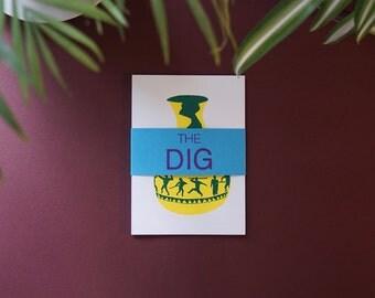 The Dig, Screenprinted Concertina Book.