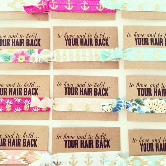 YOU CHOOSE Tropical Bachelorette Hair Tie Favors   Beach Bachelorette, Pineapple Flamingo Island Nautical Wedding Bachelorette Hair Ties