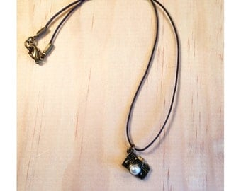Rustic Camera Pendant Necklace
