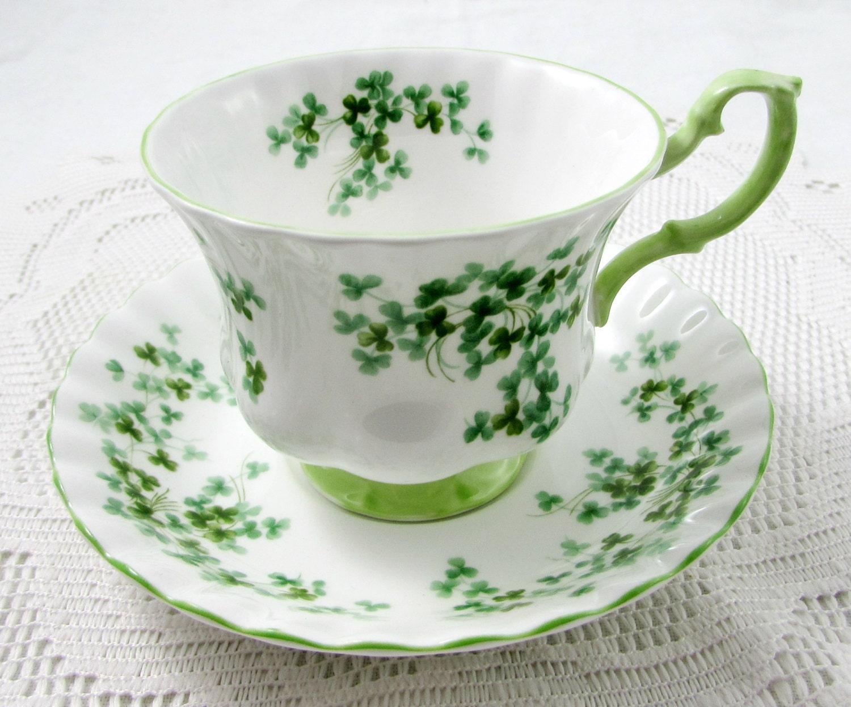 royal albert shamrock tea cup and saucer vintage bone china. Black Bedroom Furniture Sets. Home Design Ideas