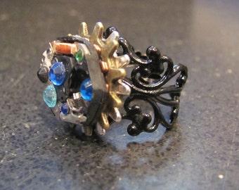 Steampunk Clockwork Ring