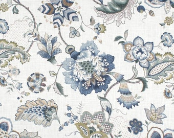 Ophelia Iris Blue, P. Kaufmann Fabrics, Fabric By The Yard