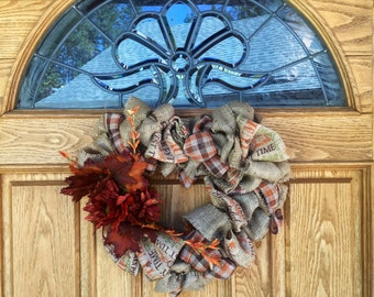 Harvest Heart Wreath