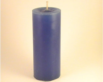 Pillar Candles, The Burning Candle, Dark Blue, Scented, Blueberry Cobbler, 4 or 6 inch, PCBP04K15