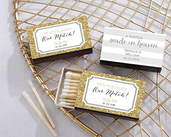 Black Matchboxes Wedding Set Of 50 Matchbox Custom Matches