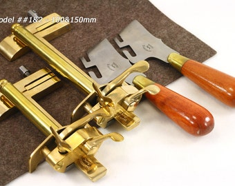 Strap Cutter Plough with Blade Vergez Blanchard in 2 sizes/Strip Strap Cutter/Leather Cutting Tool/Plough Gauge/Adjustable Cutter