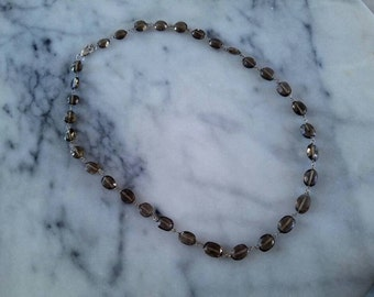 simple smokey quartz necklace