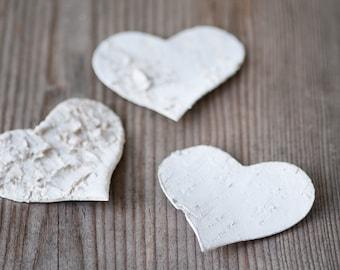 7.5cm Rustic Birch Heart, Rustic Wedding Decor, Birch Bark Heart, Wedding Favour Idea, Woodland Wedding, Natural Eco Birch Heart, Home Decor