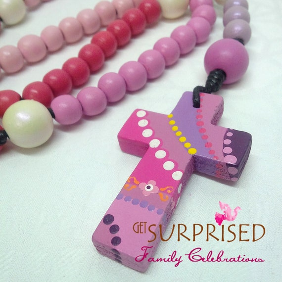 Handpainted Wooden Rosary