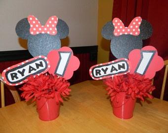 Minnie Mouse Birthday Centerpiece Sticks