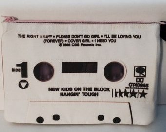 New Kids on the Block Hangin Tough Cassette Tape Clutch Purse Retro 80s