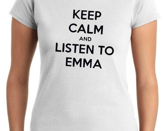 T-shirt Woman TDM00145 keep calm and listen to emma