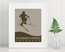 Steamboat Springs ~ Billy the Kidd Skiing ~ Art Print ~ Many Sizes Available ~ Many Colors Available