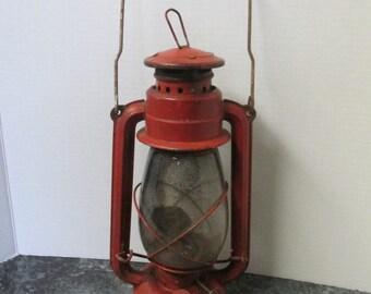 Vintage Red American Camper Lantern
