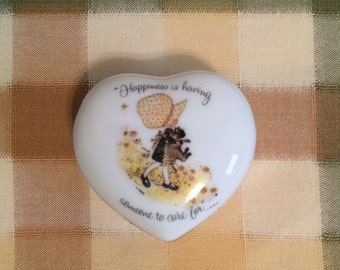 Holly Hobbie Trinket Jewelry Box Happiness is having someone to care for